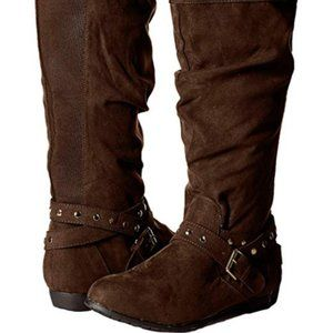 Rampage Ram-Beeded Faux Suede Boots NEW